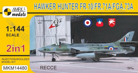 Mark I 1/144 Hawker Hunter FR10/FR71A/FGA73A Recce Fighter (2 in 1) Kit