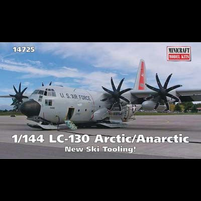 Minicraft Model Aircraft 1/144 LC130 Artic/Antarctic Aircraft (New Tooling for Skis) Kit