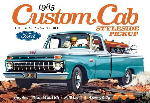 Moebius Model Cars 1/25 1965 Ford Custom Cab Styleside Pickup Truck Kit