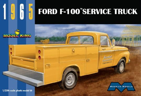 Moebius Model Cars 1/25 1965 Ford F100 Service Truck (Ltd Prod) Kit