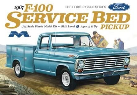 Moebius Model Cars 1/25 1967 Ford F100 Service Bed Pickup Truck Kit
