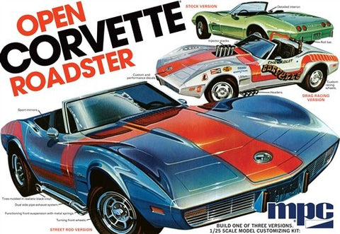 MPC Model Cars 1/25 1975 Chevy Corvette Convertible Roadster Kit