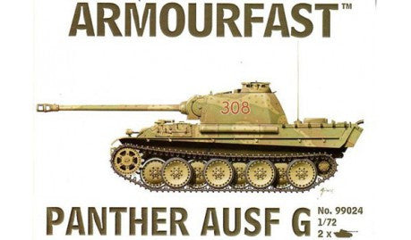 Armourfast Military 1/72 Panther Ausf G Tank (2) Kit