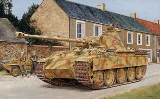 Dragon Military 1/35 SdKfz 171 Panther A Late Type Tank Normandy 1944 Kit