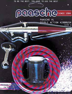 Paasche VL-CARD VL#3 Airbrush Card Set .74mm