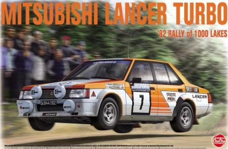Platz Model Cars 1/24 Mitsubishi Lancer Turbo 1982 Rally of 1000 Lakes Race Car Kit