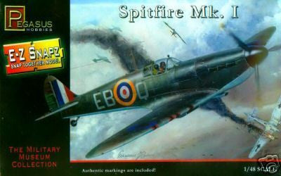 Pegasus Hobbies Aircraft 1/48 Spitfire Mk I RAF Fighter Snap Kit