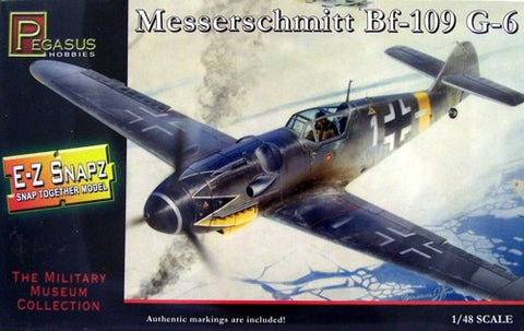 Pegasus Hobbies Aircraft 1/48 Bf109G6 Fighter Snap Kit