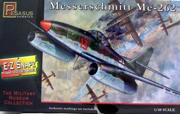 Pegasus Hobbies Aircraft 1/48 Me262 Fighter (Snap Kit)