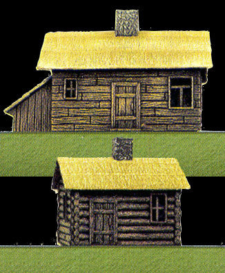 Pegasus Military 1/144 Russian Farm House (2) (Assembled)