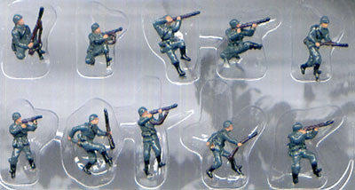Pegasus Military 1/144 German Infantry WWII (10) (Painted)