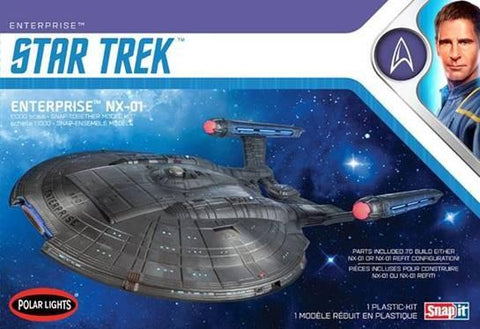 Polar Lights Sci-Fi 1/1000 Star Trek USS Enterprise NX01 Kit