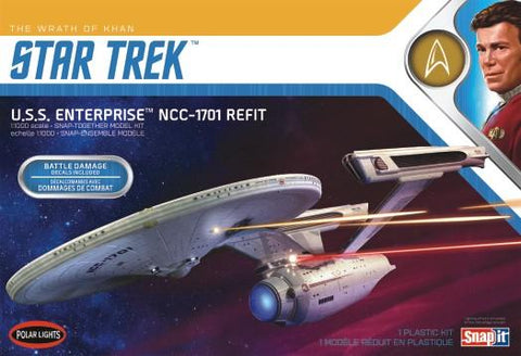 Polar Lights Sci-Fi 1/1000 Star Trek Wrath of Khan USS Enterprise NCC1701 Refit Kit
