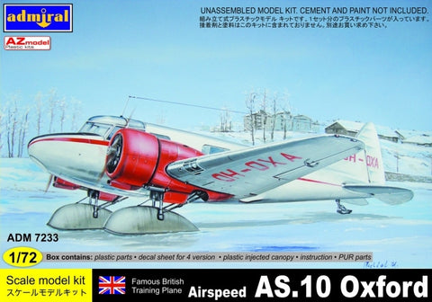 Admiral Models Aircraft 1/72 Airspeed AS10 Oxford Aircraft Kit