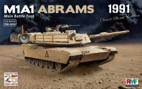 Rye Field 1/35 M1A1 Abrams Main Battle Tank Persian Gulf War 1991 Desert Storm Edition Kit