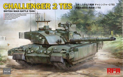 Rye Field 1/35 British Challenger 2 TES Main Battle Tank w/Workable Track Links Kit