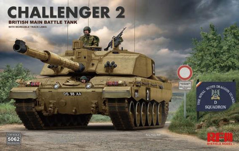 Rye Field 1/35 British Challenger 2 Main Battle Tank w/Workable Track Links Kit