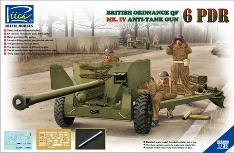 Riich Models Clearance Sale 1/35 Brit Ordnance QF 6 pdr Kit
