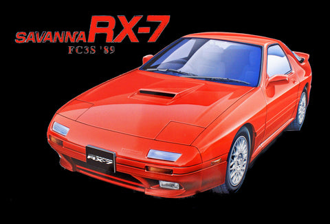 Aoshima Car Models 1/24 1989 Mazda RX7 Savanna 2-Door Car Kit