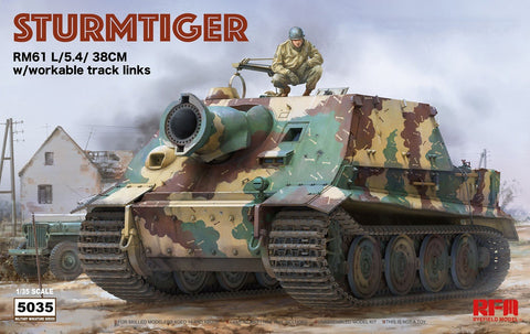 Rye Field 1/35 Sturmtiger w/Workable Track Links Kit