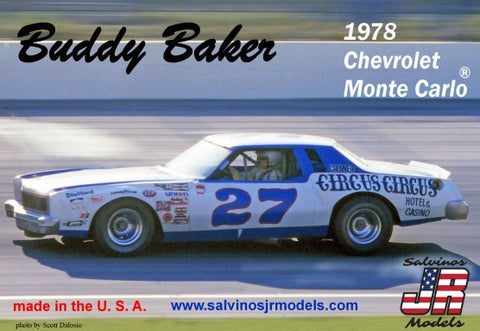 Salvinos Jr. 1/25 Buddy Baker 1978 Chevrolet Monte Carlo Race Car Kit