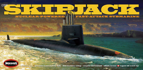 Moebius Model Ships 1/72 USS Skipjack Nuclear-Powered Fast-Attack Submarine Kit