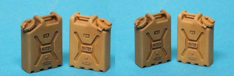 Special Ops 1/16 Modern Water Jerry Cans (Unpainted Resin)