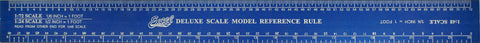 "Excel Tools 12"" Aluminum 1/35, 1/24, 1/25 Scale Model Ruler"