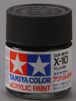Tamiya Acrylic X10 Gloss Gunmetal 23 ml Bottle