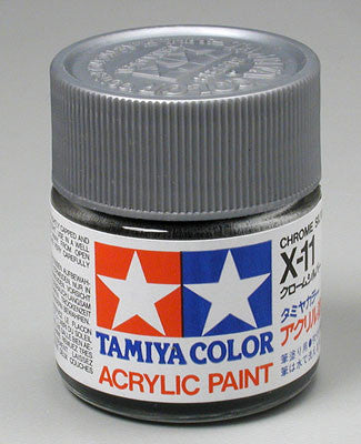 Tamiya Acrylic X11 Gloss Chrome Silver 23 ml Bottle