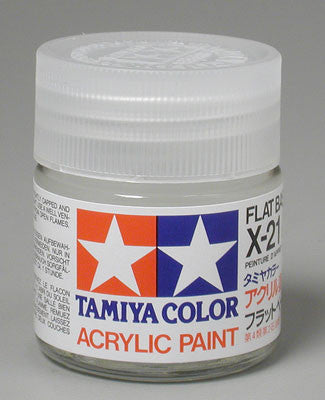 Tamiya Acrylic X21 Gloss Flat Base 23 ml Bottle