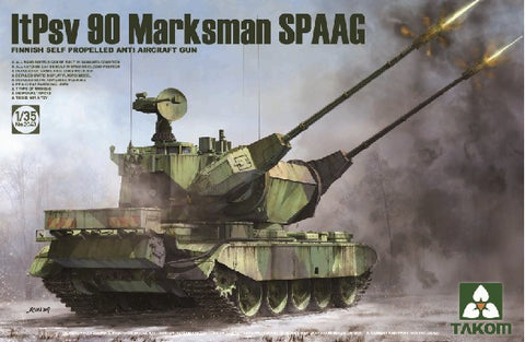Takom Military 1/35 Finnish ItPsv90 Marksman Self-Propelled Anti-Aircraft Gun Kit