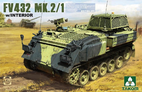 Takom Military 1/35 British FV432 Mk 2/1 Armored Personnel Carrier w/Interior Kit