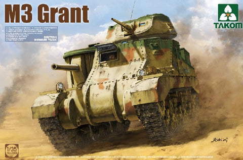 Takom Military 1/35 British M3 Grant Medium Tank (New Tool) Kit