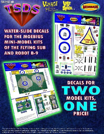 TSDS Decals 1/128 Mini Flying Sub & LiS Robot Decal Set for MOE
