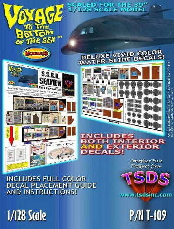 TSDS Decals 1/128 Seaview Submarine Decal Set for MOE
