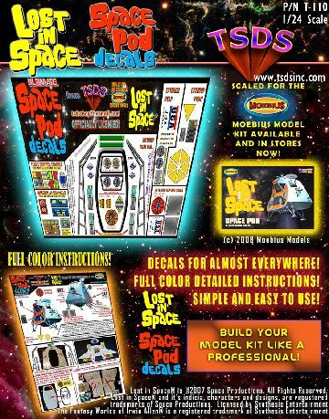 TSDS Decals 1/24 LiS Space Pod Decal Set for MOE