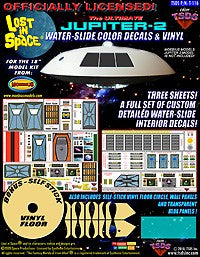 "TSDS Decals 1/35 LiS Jupiter 2 Spaceship Decal & Vinyl Set for MOE 18"" Model"