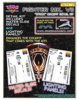 TSDS Decals 1/32 Battlestar Galactica Mk VII Fighter Decal Set & Lighting Panel for MOE