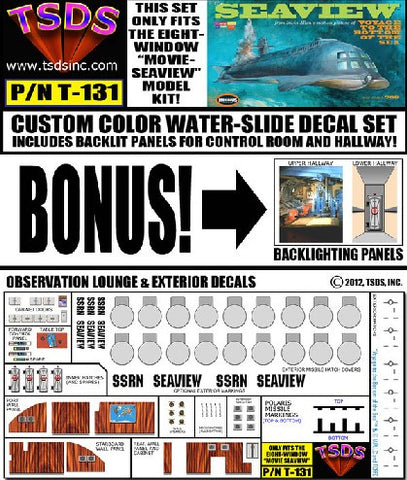 TSDS Decals 1/128 Seaview 8-Window Submarine Movie Version Decal Set for MOE