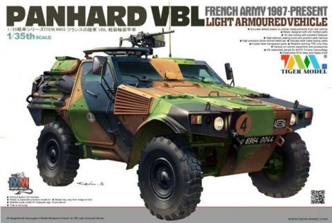Tiger Military Models 1/35 French Panhard VBL Light Armored Vehicle 1987-Present Kit