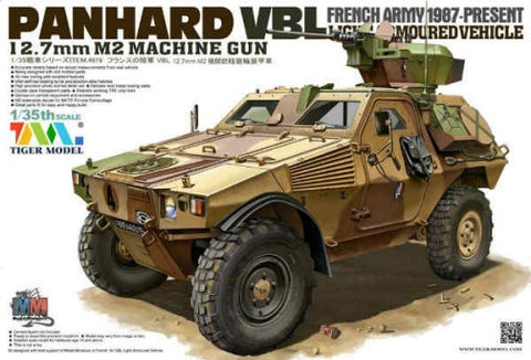 Tiger Military Models 1/35 French Panhard VBL Light Armored Vehicle w/12.7mm M2 Machine Gun 1987-Present Kit
