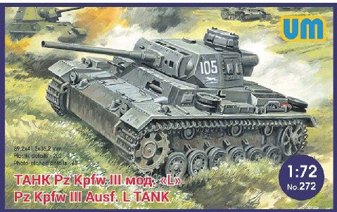 Unimodels Military 1/72 PzKpfw III Ausf L German Tank w/Protective Screen Kit