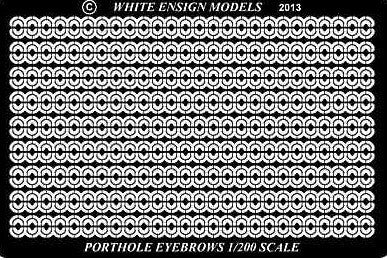 White Ensign Details 1/200 Porthole Eyebrows for TSM Detail Set