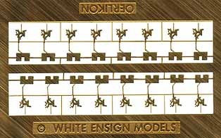 White Ensign Details 1/350 20mm Oerlikons & Shields Detail Set