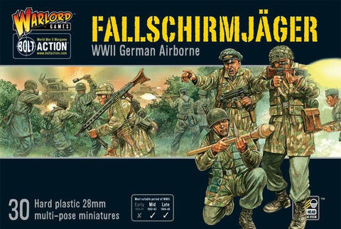 Warlord Games 28mm Bolt Action: WWII German Airborne Fallschirmjager (30) Kit