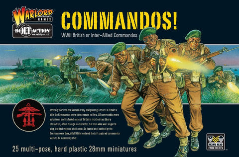 Warlord Games 28mm Bolt Action: WWII British or Inter-Allied Commandos (25) Kit
