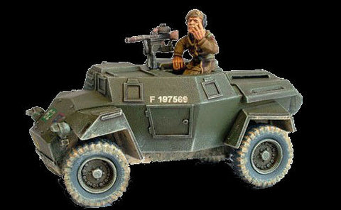 Warlord Games 28mm Bolt Action: WWII Humber Scout Car w/Brigadier J.O.E. Vandeleur (Resin w/Metal Parts) Kit