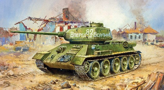 Zvezda Military 1/100 Soviet T34/85 Tank Snap Kit