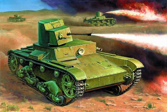 Zvezda Military 1/100 Soviet XT26 Flamethrower Tank Snap Kit